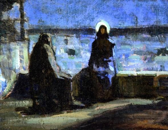 Nicodemus visiting Jesus_Henry-Ossawa-Tanner