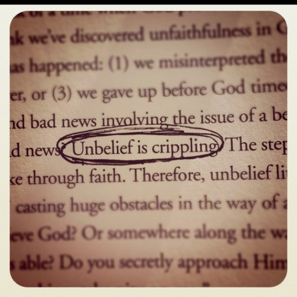 unbelief is crippling