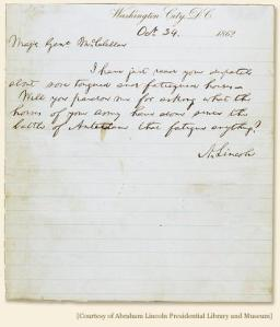 Lincoln's note